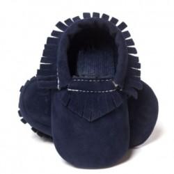 JPES Geel Suède Soft Babyschoen voor Jongen en Meisje
