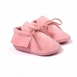 JPES Roze Suède Babyschoen voor Jongen of Meisje